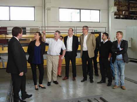 La dernière réunion a eu lieu chez un des entrepreneurs qui a été heureux de faire visiter son entreprise aux autres membres du club.