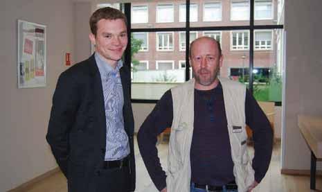 Christophe avec son directeur, Cyril Vantard.