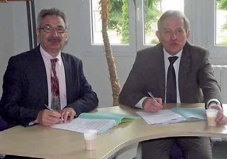 Zéphyrin Legendre, pour la chambre de métiers et de l'artisanat, et Patrick Deguise, pour la communauté de communes du Noyonnais, s'engagent activement auprès des artisans du territoire.