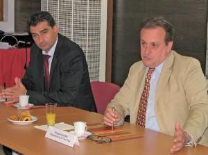Quelques jours après son assemblée générale, le président Philippe Enjolras (à d.), a fait un tour d'horizon complet des activités de la chambre de commerce et d'industrie de l'Oise.