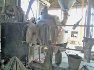 La fabrication du béton prêt à l'emploi.