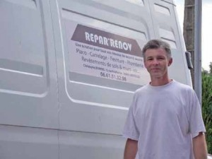 La seule publicité de Christophe, c'est son camion et le bouche à oreille.