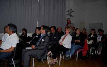 Le public a participé aux débats.