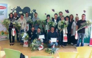 Dix-neuf nouveaux salariés, fiers d'un parcours de formation sans faute.