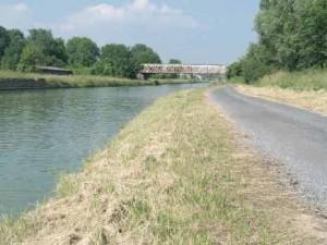 Les berges du canal de Saint-Quentin seront utilisées pour accueillir les utilisateurs de la future eurovéloroute 3.