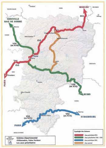 Dans l'Aisne, le conseil général prévoit l'aménagement de 300 km de véloroutes.