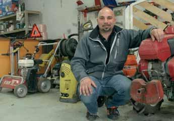 Xavier Balik loue aussi bien du matériel de jardinage que des engins de travaux publics ou du gros outillage.