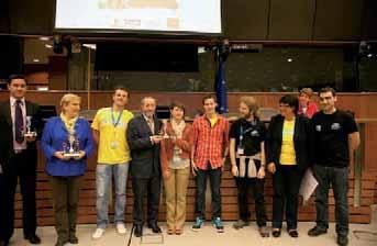 L'équipe saint-quentinoise récompensée par les organisateurs, dont Google et Facebook.
