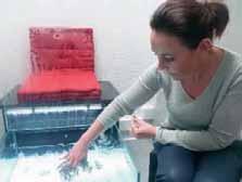 C'est automatique : à peine les pieds plongés dans l'eau, les poissons viennent directement sucer la peau.