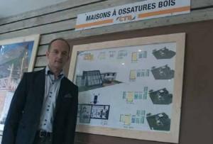 L'entreprise de Guy Maillard compte beaucoup sur son prototype de maison à ossature bois pour son expansion.