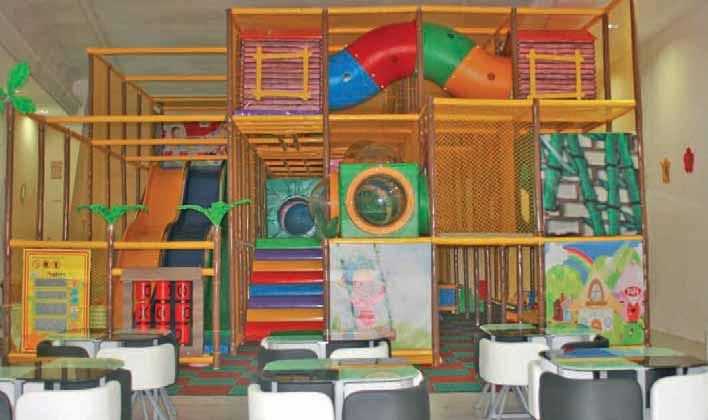 La structure est adaptée aux plus jeunes.