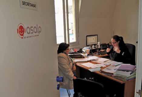 L'essentiel du travail d'Asalp se faisant à domicile, l'entreprise possède de petits locaux boulevard Richelieu.
