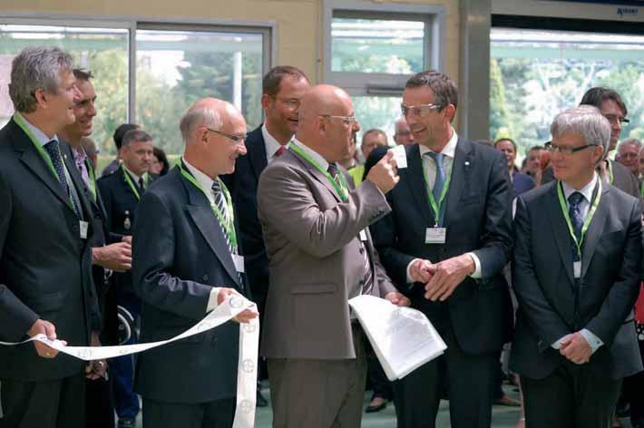 Cette cérémonie a été l'occasion d'annoncer et de visiter le nouveau bâtiment construit pour agrandir un atelier de conditionnement.