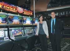 Le casino compte 50 machines à sous.