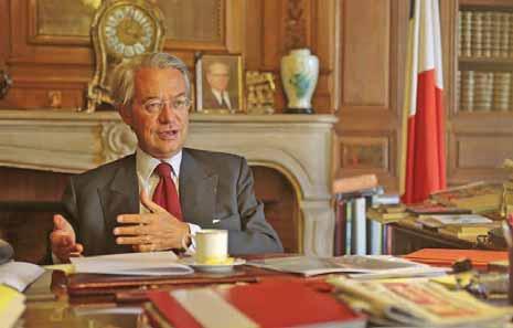Philippe Marini, maire de Compiègne, et président de l'ARC.