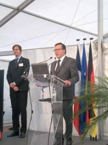 Dr Ralf Murjahn, Pdg groupe Daw, et Claude Leclere, directeur général Daw France, lors de l'inauguration du centre de formation et d'excellence.