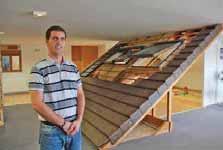 Après l'aménagement de combles, Franck Tranchart lance son entreprise dans la construction de maisons à ossature bois.