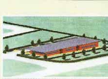 Le projet architectural est un bâtiment de plain-pied couvrant 500 m².