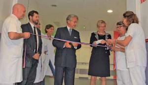 Philippe Marini et Brigitte Duval ont inauguré un service qui a coûté près de quatre millions d'euros.