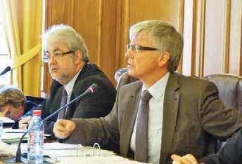 Le sénateur et président du conseil général de l'Aisne Yves Daudigny (à droite) et Jean-Jacques Thomas qui fut son premier vice-président.