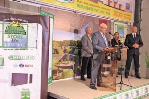 Cette inauguration était le moment de prouver que l'environnement pouvait influencer efficacement la démarche d'une entreprise.