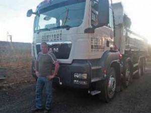 Patrick Deweerdt a investi 135 000 euros dans ce camion nouvelle génération.