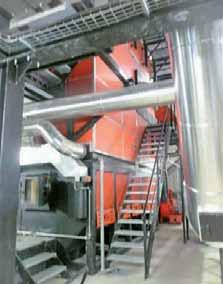 La chaudière bois Weiss développe 5 mégawatts.
