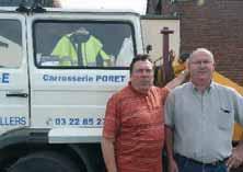 Philippe Dalle (à d.) et M. Poret.