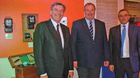 Le sénateur Daniel Dubois, Eric Desrousseaux, Président de la SICAE et Christophe Chauvet DG de la SICAE Somme Cambrésis (de g. à d.)