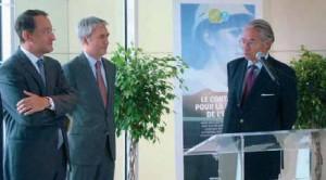 Philippe Maillard, DG de Lyonnaise des Eaux France et Laurent Besse directeur régional en compagnie de Philippe Marini.