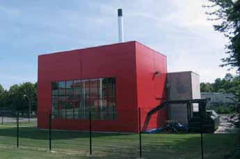 La chaufferie biomasse du centre hospitalier Philippe-Pinel à Dury pour ses besoins en chauffage et en eau chaude sanitaire.