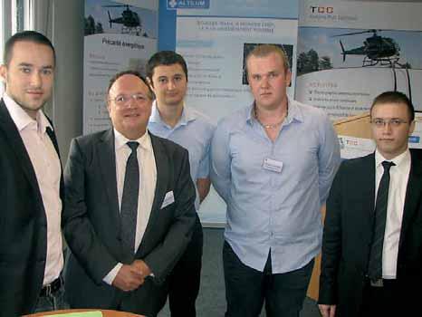 Fondateur de TCC SAS, Jean-Claude Barré s'entoure régulièrement de stagiaires : du niveau bac Pro à l'ingénieur, tous ont obtenu leur diplôme.