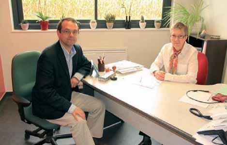 Michel Hemberg et F St-Romain Lisam - Passel (60) - ML 270912 : Françoise Saint-Romain a pu compter sur le capital apporté par Michel Hemberg et Lisam systems pour se développer.