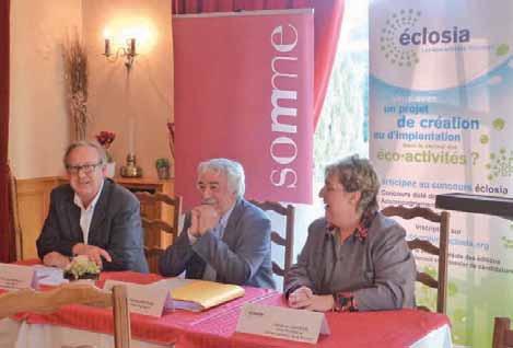 Le parrain du concours, Pierre Radanne, entouré de Christian Manable et de Catherine Quignon.