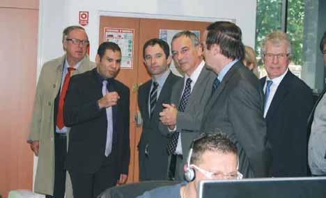 Le ministre a rendu visite à plusieurs entreprises, comme ici A Capella.