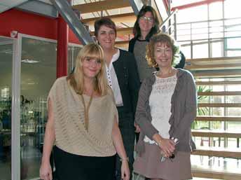Julie Bertin, Elisabeth Watripon, Laetitia Thévenin et Corinne Devambez (de g. à d.), quatre entrepreneuses bien dans leur peau et dans leur métier.