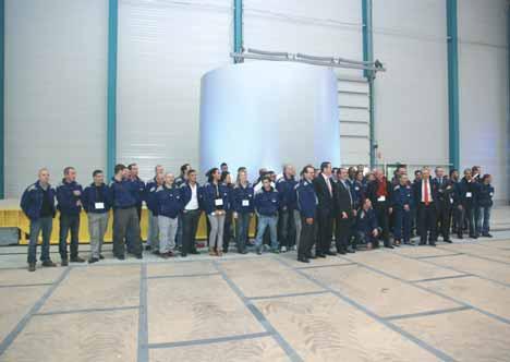 Toute l'équipe d'Enercon était présente à l'inauguration.