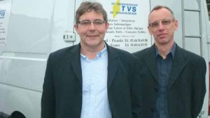 Xavier Lucas, Pdg de TVS, et Pascal Pruvost, responsable marketing commercial.