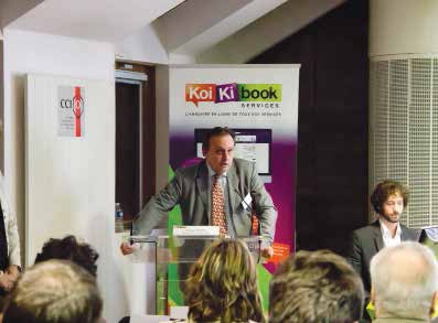 Philipe Enjolras, président de la CCIT, lors du lancement du Koikibook.