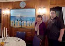 Marie-Christine Borck-Klopp propriétaire de la Flamiche travaille en salle et à l'accueil et Eric Gachignard en cuisine depuis 1990.