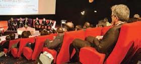 Environ 150 personnes, dont de nombreux chefs d'entreprise, ont assisté à l'assemblée générale de la fédération française du BTP.
