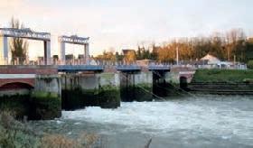 La première étape de l'expérimentation des chasses hydrauliques sur le site de Saint-Valéry-sur-Somme a été réalisée du 19 au 23 novembre.