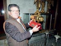 Patrick de Butter, expert en objets d'art, a découvert un trésor dans la cathédrale de Laon.