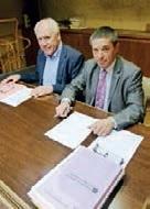 Nicolas Fricoteaux (à droite) et Ernest Templier réfléchissent à une répartition plus juste du FDPTP.