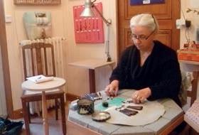 Danielle Wolf, dans son atelier.