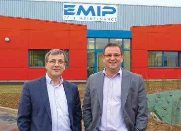 Philippe Millon (à g.), et Eric Mourrière devant les nouveaux locaux installés sur la zone artisanale de Nesle.