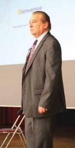 Yvon Delahaye, responsable de la coopérative et de l'antenne de Clermont BGE Oise