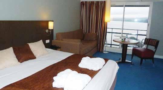 La décoration des chambres de l'Hôtel du Golf de l'Ailette a été conçue par une entreprise saint-quentinoise.