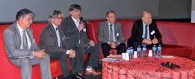 ( de gauche à droite) Dominique Vandroz,Bernard Nemitz, Dominique Bernichon, Jean-Claude Oleksy et Hervé Coquet : les acteurs de 20 ans d'histoire du CESTP- ARACT.