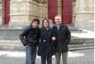 Vérino de passage à Amiens en compagnie de Hélène Cuvillers- Vasseur et d'Alain Picard.